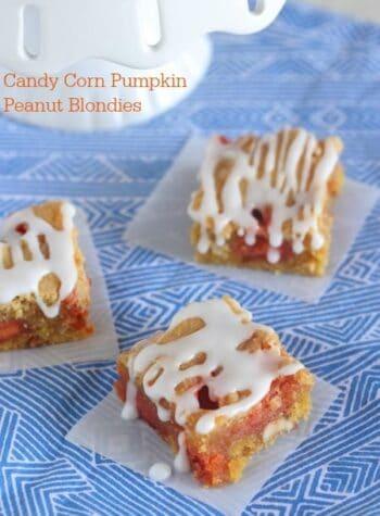 Candy Corn Pumpkin Peanut Blondies