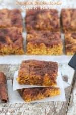 Pumpkin Snickerdoodle Cake Bars