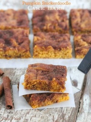 Pumpkin Snickerdoodle Cake Bars