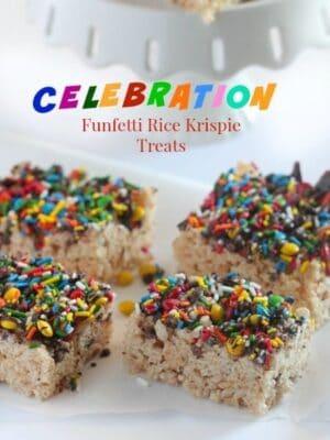 Celebration Funfetti Rice Krispie Treats