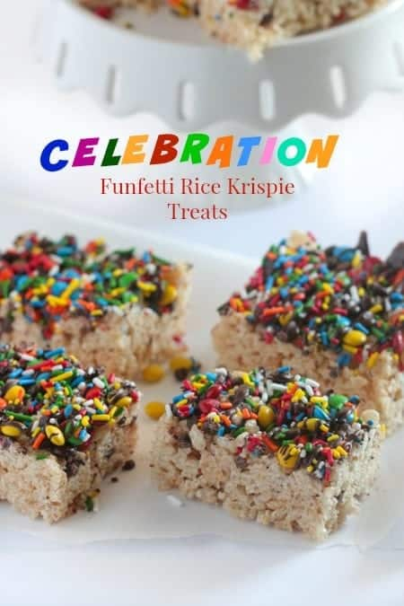 Celebration Funfetti Rice Krispie Treats