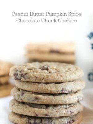 Peanut Butter Pumpkin Spice Chocolate Chunk Cookies