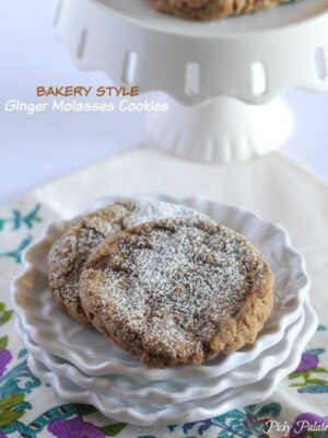 Bakery Style Ginger Molasses Cookies
