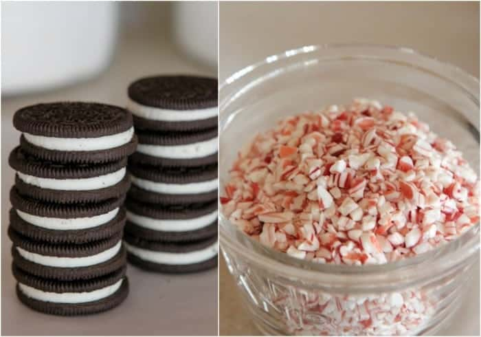 Candied Pecan Peppermint Crunch Chocolate Covered Oreos