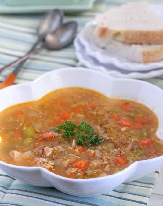 Lemon Chicken Quinoa Vegetable Soup