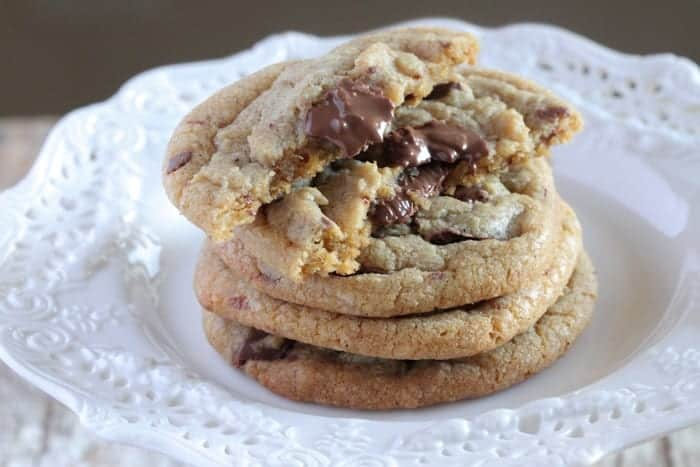 Crispy Brown Butter Chocolate Chunk Cookies