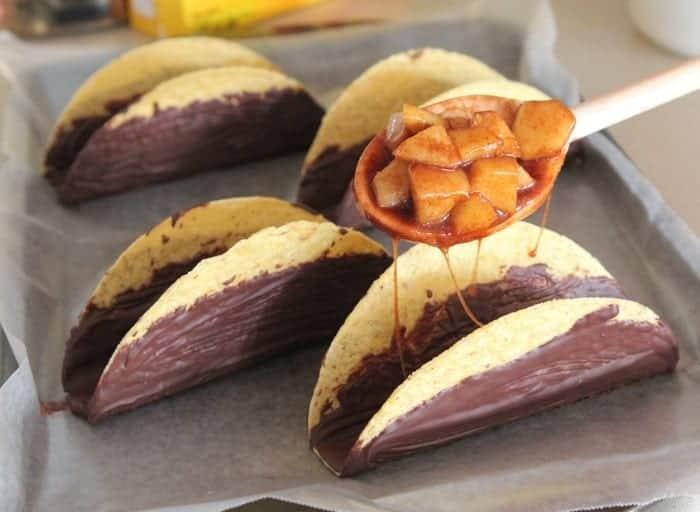 Apple Pie Style Chocolate Taco