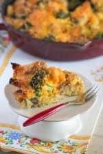 Broccoli Cheddar Breakfast Bake