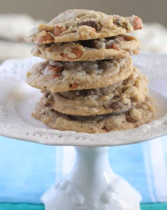 Butterscotch Chocolate Chunk Pudding Cookies