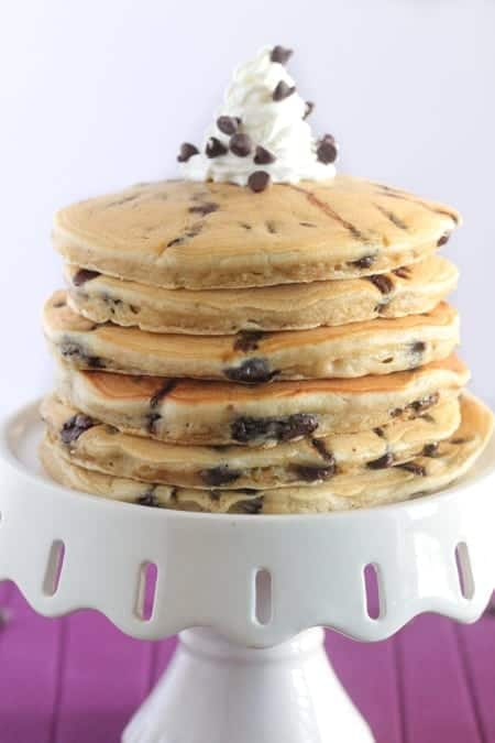 Chocolate Chip Malted Pancakes