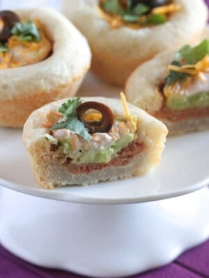 Mini 7 Layer Bean Dip Bowls