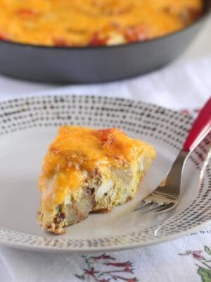 Cheddar Potato Bacon Frittata