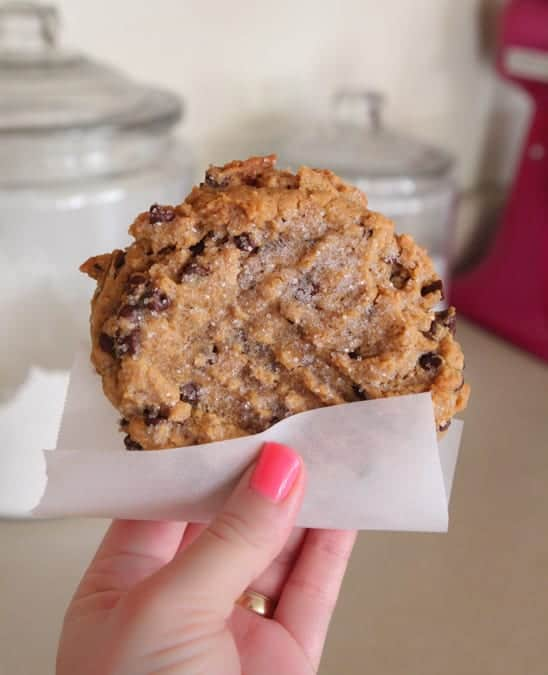 My Peanut Butter Chocolate Chip Cookie For One is the perfect sweet ...