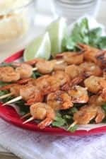 Taco Lime Grilled Shrimp Skewers