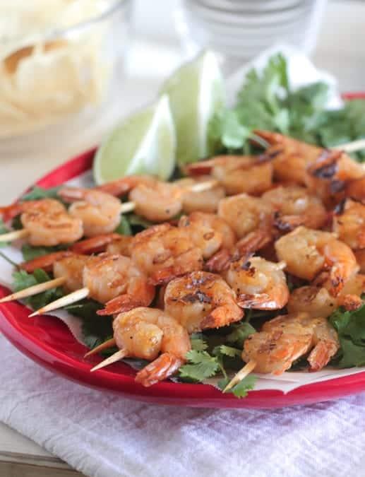 Taco Lime Grilled Shrimp Skewers