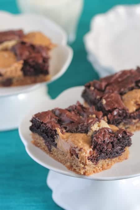 Chocolate Chip Peanut Butter Truffle Brookies