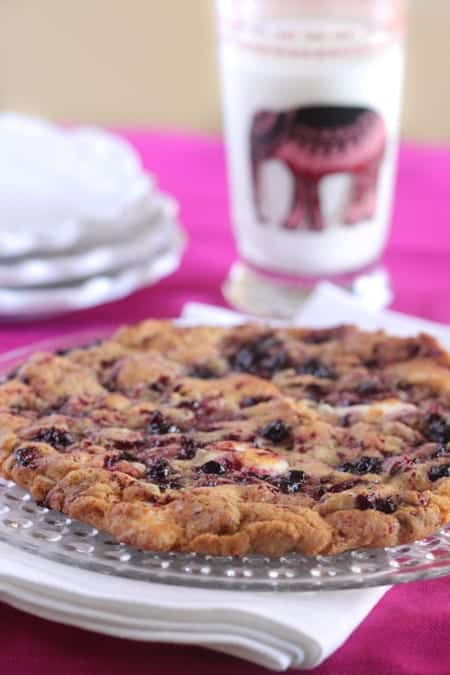 Giant Almond Berry White Chip Cookie