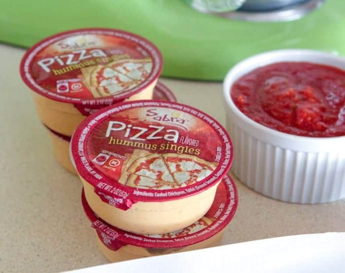 Cheesy Pepperoni Pizza Hummus Rolls