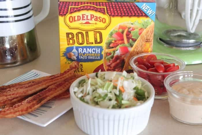 Creamy BLT Ranch Tacos