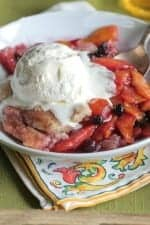 Homemade Peach Berry Cobbler