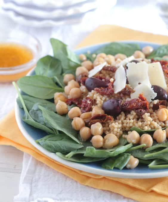 Italian Style Spinach Pasta Salad