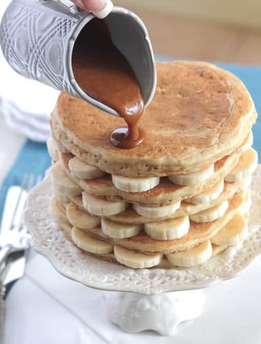 Oatmeal Walnut Banana Caramel Pancakes-11