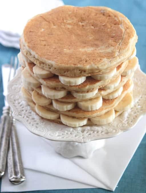 Oatmeal Walnut Banana Caramel Pancakes-8