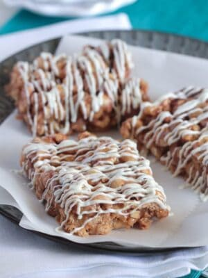 Peanutty Pumpkin Spice Toffee Bars