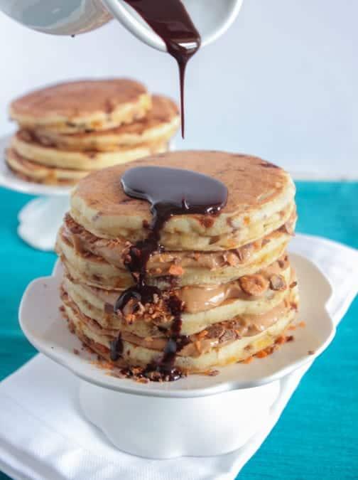 Butterfinger Pancakes