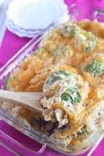 Creamy Garlic Chicken Rice Bake