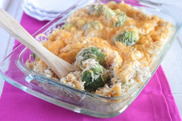 Creamy Garlic Chicken Rice Bake