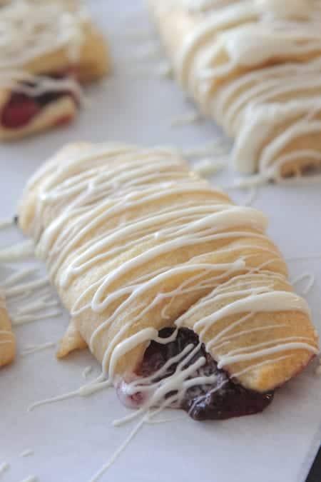 White Chocolate Cherry Pie Crescents