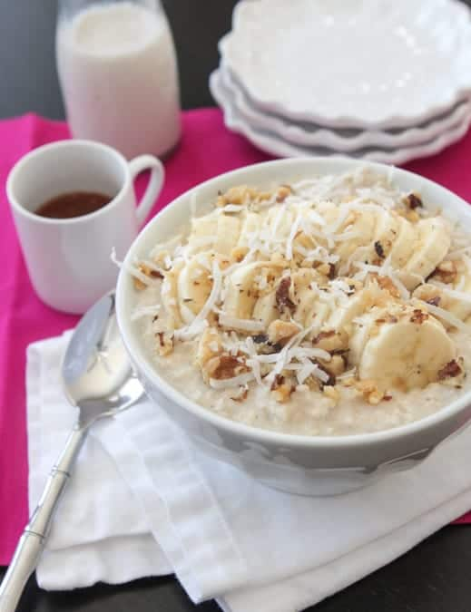 Banana Coconut Caramel Walnut Oatmeal