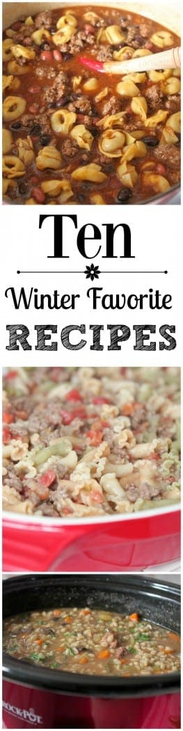 Ten Winter Favorite Recipes