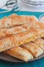Cheesy Chicken Taco Breadstick Dippers