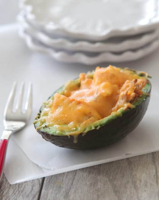 Spicy Chicken Cheesy Baked Avocado