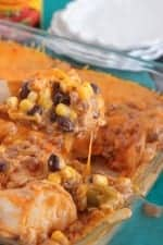 Image of Cheesy Layered Beef Enchilada Bake