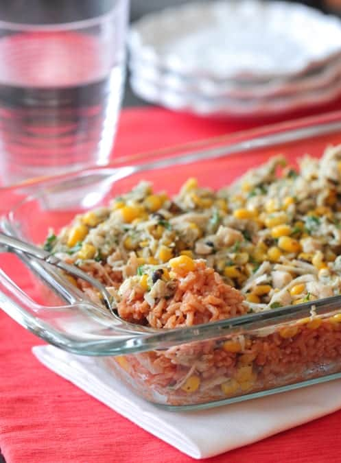 Chicken and Roasted Corn Mexican Rice