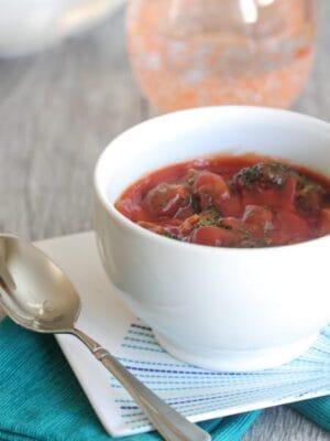 Roasted Broccoli Tomato Soup