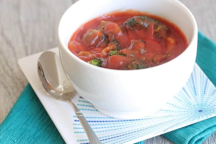 Roasted Broccoli Tomato Soup