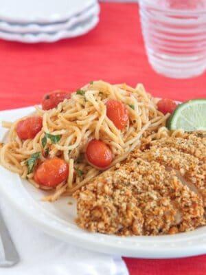 Image of Creamy Cilantro Lime Spaghetti