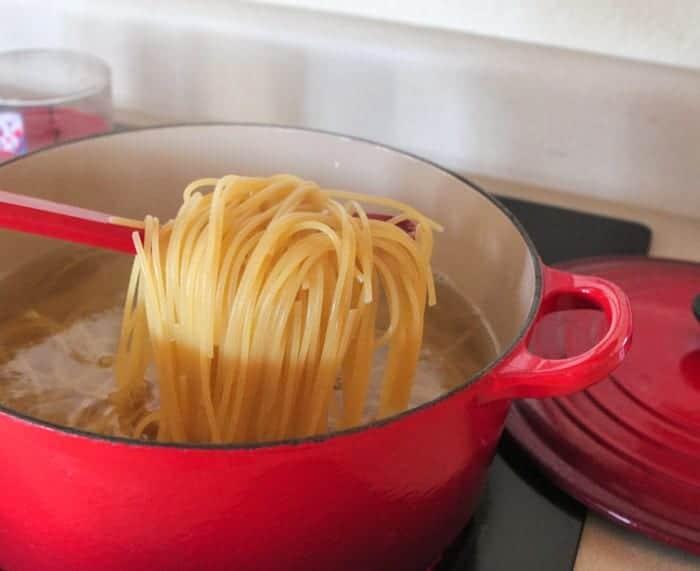Roasted Tomato Cilantro Lime Creamy Spaghetti