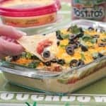 7 Layer Mexican Style Hummus Dip