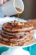 Whole Wheat Cherry Walnut Buttermilk Pancakes