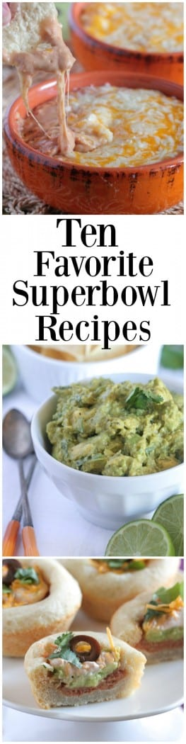 Ten Favorite Superbowl Recipes