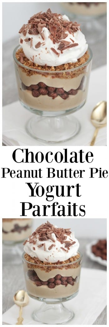 Chocolate Peanut Butter Pie Yogurt Parfaits