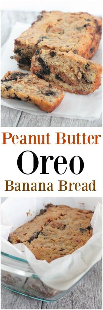 Peanut Butter Oreo Banana Bread
