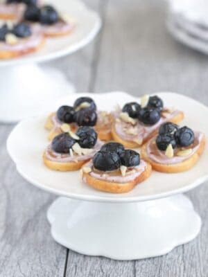 Honey Almond Blueberry Bagel Bruschetta