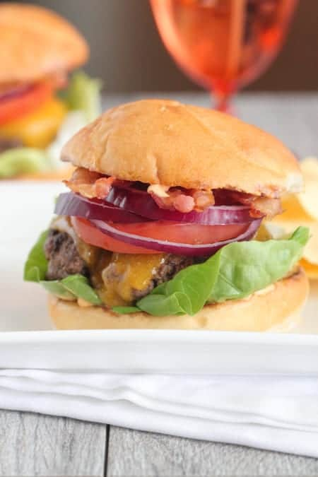 Siracha Ranch Bacon Cheeseburgers