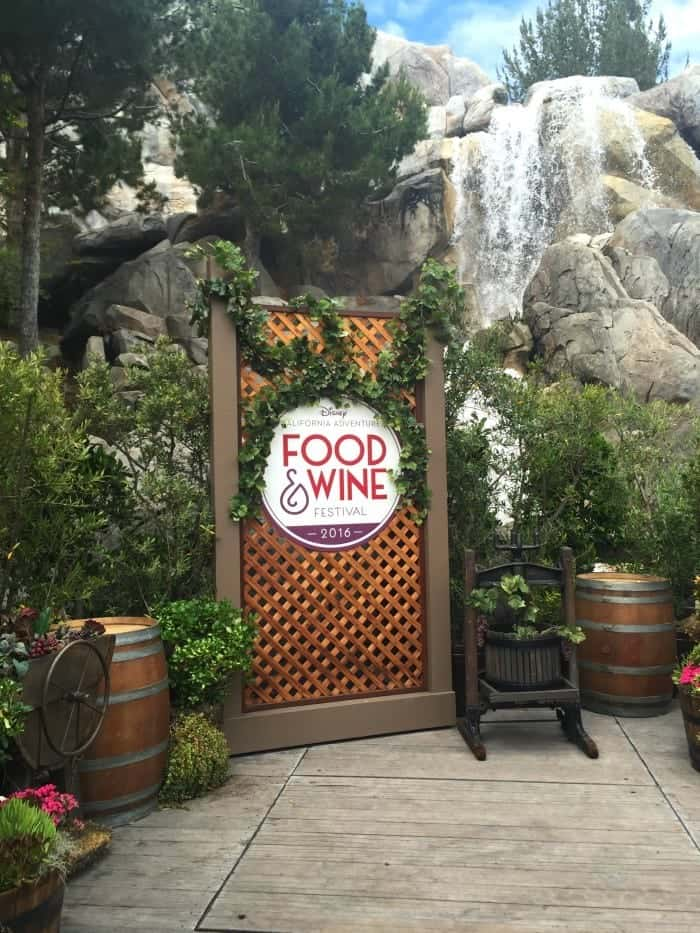 Disney Food and Wine Festival 2016